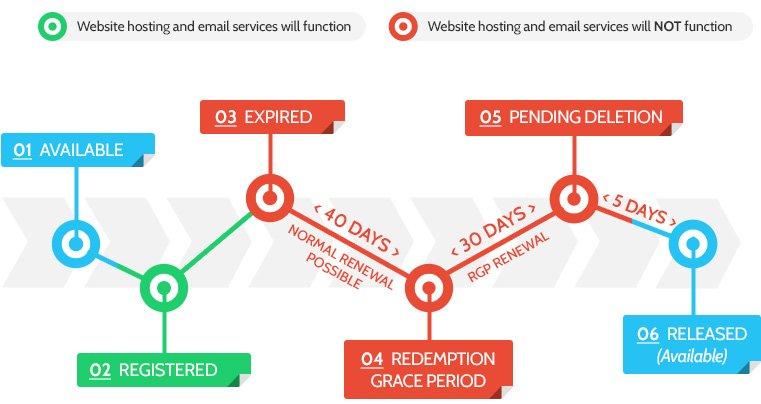 domain name expiry process
