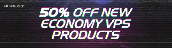 As part of MEGAMayMonth, get 50% off any NEW Economy VPS product