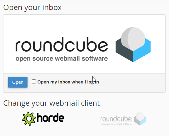 Webmail - Select Interface