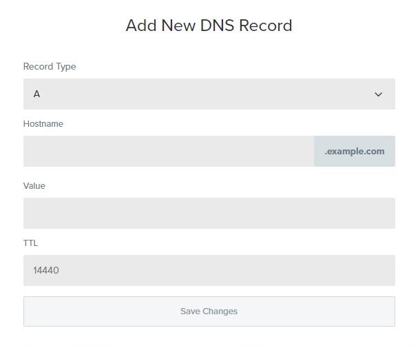 Free DNS - Adding a record