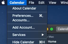 Mac OSX Calendar Preferences