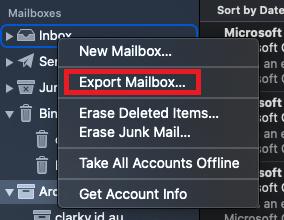 Mac Mail - Export Folder