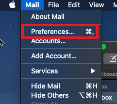 Mac Mail Open Preferences