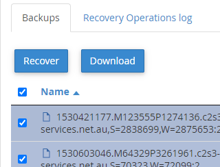 cPanel Acronis Backup Email Files