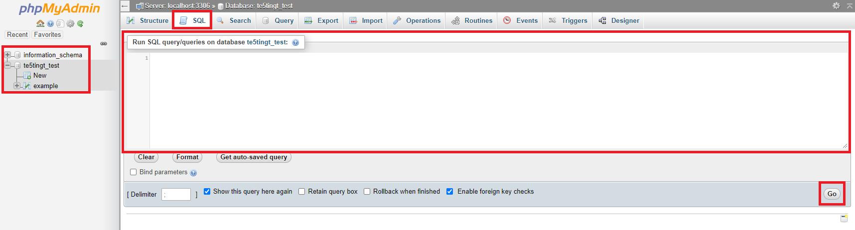 PHPMyAdmin Run SQL Query