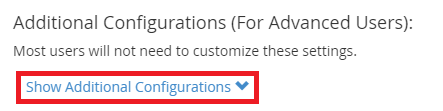 cPanel Spam Filter Show Additional Configurations